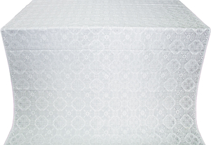 Pavlov Pokrov silk (rayon brocade) (white/silver)