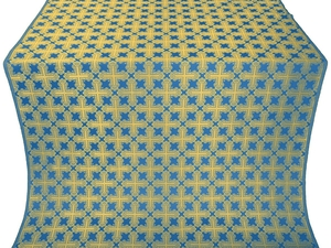 Pokrov silk (rayon brocade) (blue/gold)