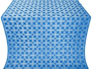 Pokrov silk (rayon brocade) (blue/silver)