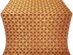 Pokrov silk (rayon brocade) (claret/gold)
