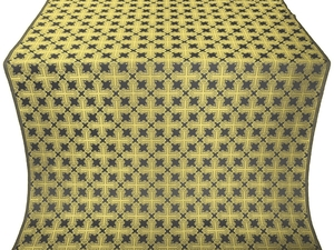 Pokrov silk (rayon brocade) (black/gold)