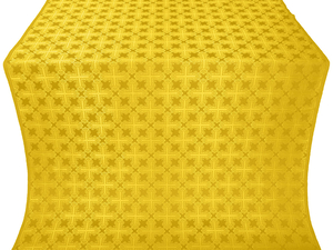 Pokrov silk (rayon brocade) (yellow/gold with claret)