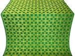 Pokrov silk (rayon brocade) (green/gold)