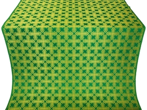 Pokrov silk (rayon brocade) (green/gold)