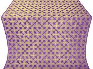 Pokrov silk (rayon brocade) (violet/gold)
