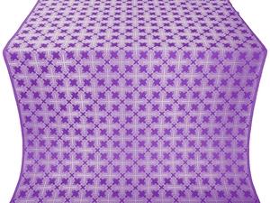 Pokrov silk (rayon brocade) (violet/silver)
