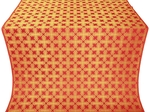Pokrov silk (rayon brocade) (red/gold)