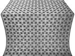 Pokrov silk (rayon brocade) (black/silver)