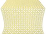 Pokrov silk (rayon brocade) (white/gold)