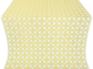 Pokrov silk (rayon brocade) (white/gold)