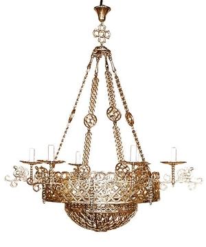 Church chandelier (khoros) Birds (6 lights)
