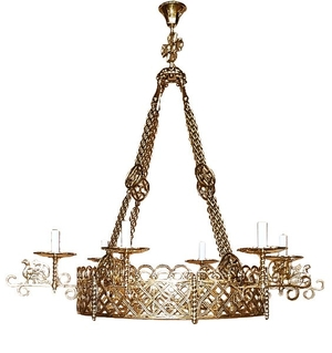 Church chandelier (khoros) Birds-2 (6 lights)