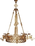 Church chandelier (khoros) Birds-3 (4 lights)