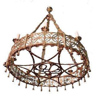 Church chandelier (khoros) - 38 (8 lights)