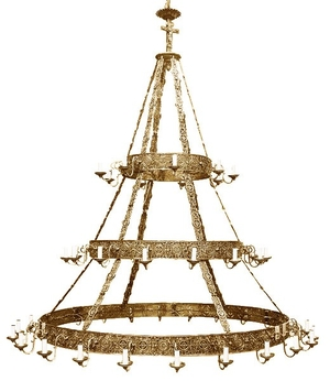 Church chandelier (khoros) Don-3 (54 lights)