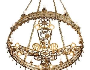 Church chandelier (khoros) - 34 (12 lights)