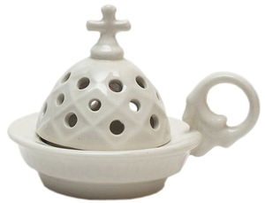 Church porcelain incense burner - 1339