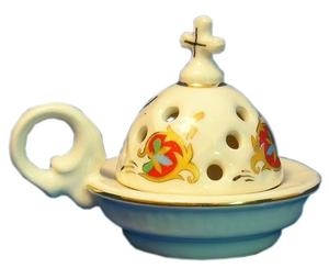 Church porcelain incense burner - 1344