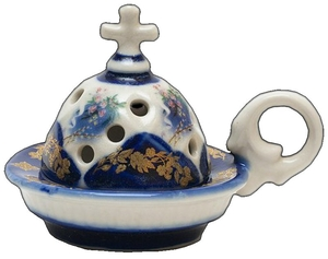Church porcelain incense burner - 1347