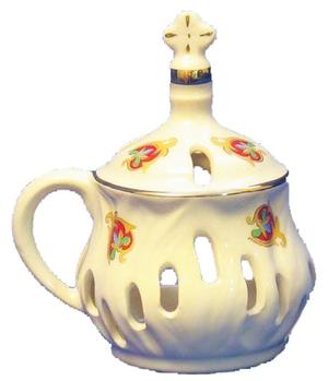 Church porcelain incense burner - 2936