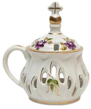Church porcelain incense burner - 8699