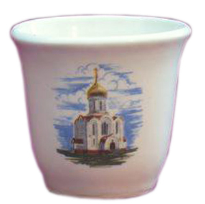 Porcelain glass for Holy water - 2309