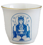 Porcelain glass for Holy water - 2317