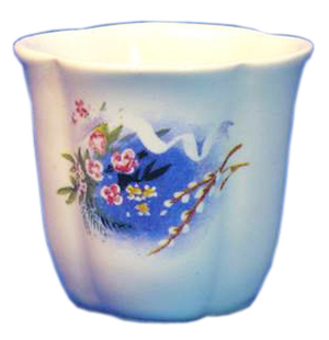 Porcelain glass for Holy water - 2347
