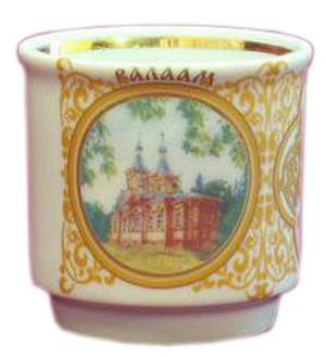 Porcelain glass for Holy water - 2400