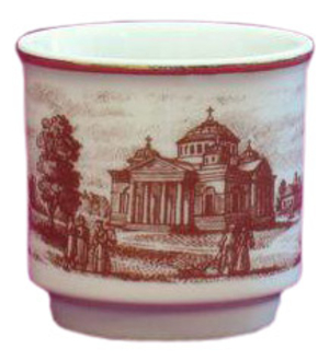 Porcelain glass for Holy water - 6556