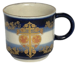 Porcelain cup for Holy water - 7729