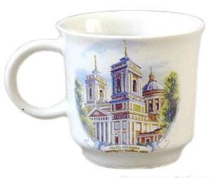 Porcelain cup for Holy water - 8436