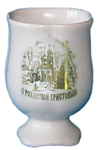 Porcelain glass for Holy water - 8700