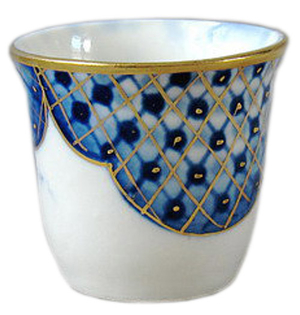 Porcelain glass for Holy water - 9123