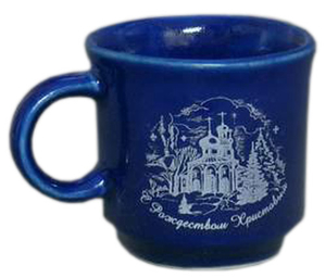 Porcelain cup for Holy water - 9149