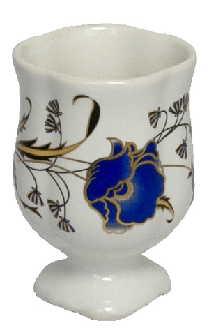 Porcelain glass for Holy water - 9327