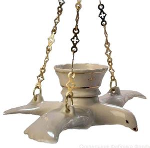 Porcelain vigil lamp - 1604