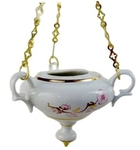 Porcelain vigil lamp - 1608
