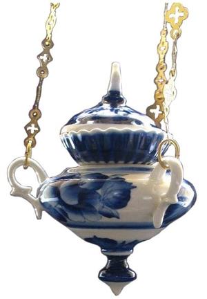 Porcelain vigil lamp - 8576