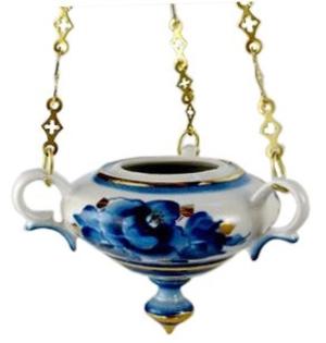 Porcelain vigil lamp - 8577