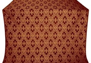 Seraphim silk (rayon brocade) (claret/gold)