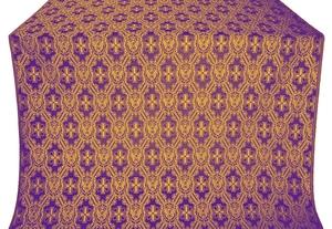 Seraphim silk (rayon brocade) (violet/gold)