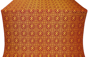 Alpha-and-Omega silk (rayon brocade) (claret/gold)