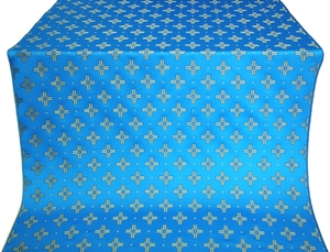 Bishop silk (rayon brocade) (blue/gold)