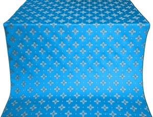 Bishop silk (rayon brocade) (blue/silver)