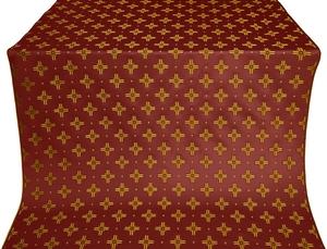 Bishop silk (rayon brocade) (claret/gold)
