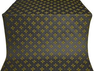 Bishop silk (rayon brocade) (black/gold)