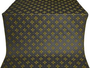 Bishop silk (rayon brocade) (black/gold)