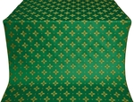 Bishop silk (rayon brocade) (green/gold)