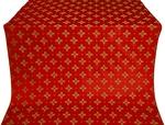 Bishop silk (rayon brocade) (red/gold)